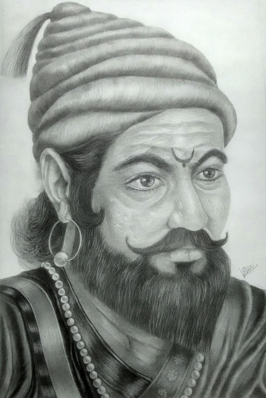 Shivaji maharajchhatrapati shivaji maharajart 3015 20668artist vijaykumar shindepencil