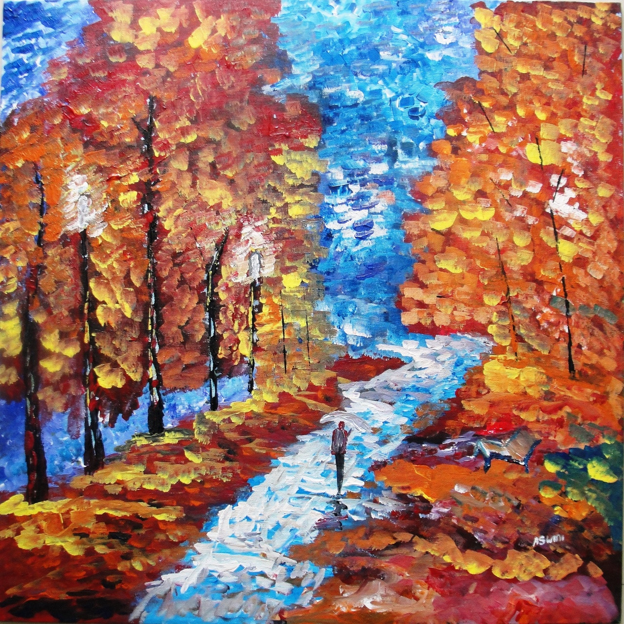 Contemporary art 24 x24 (ART_856_3111) - Handpainted Art Painting - 0in X  0in