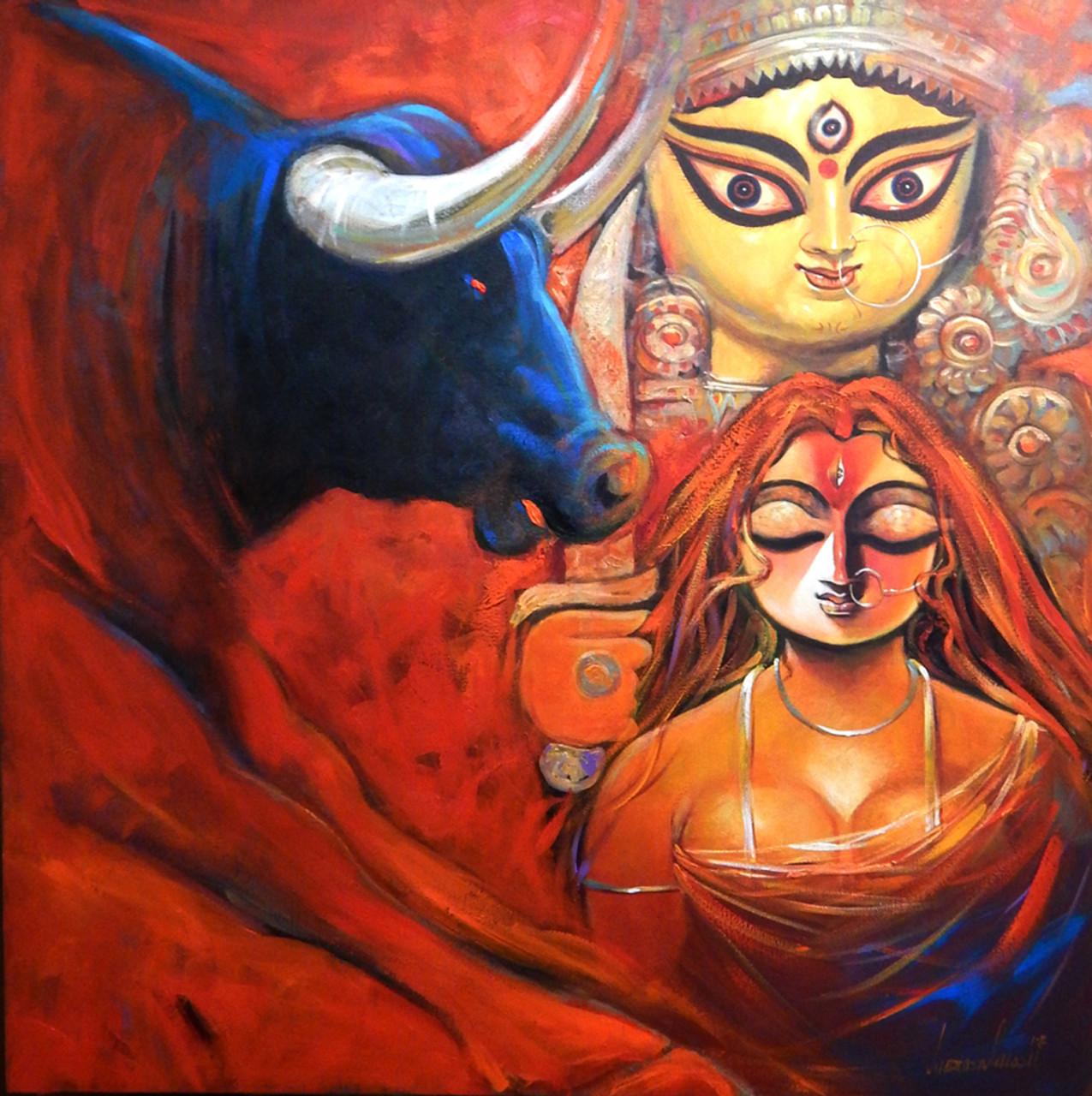 Shakti Ii Art 1469 27129 Handpainted Art Painting 48in X 48in