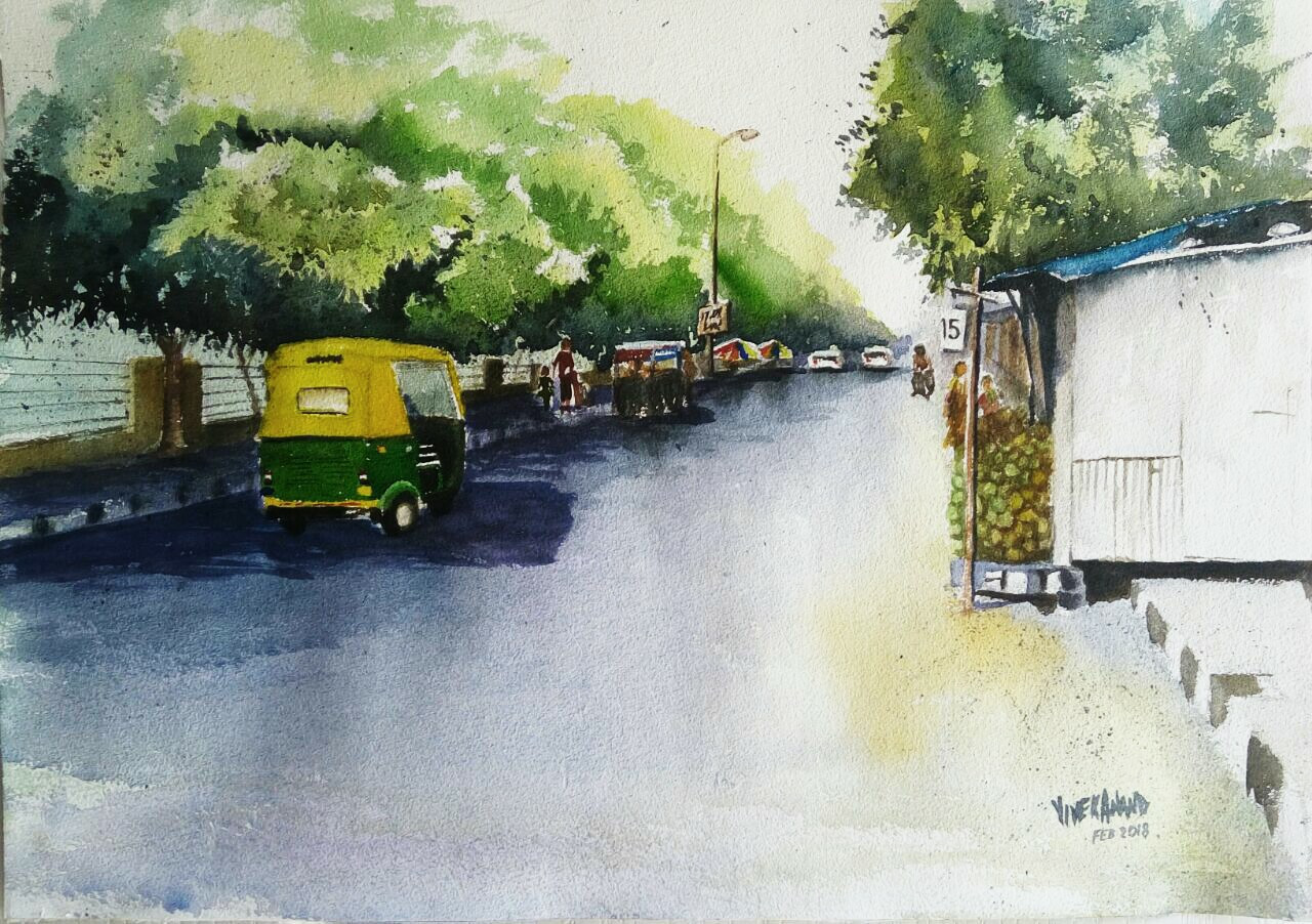 The Sunny At Bangalore Art 4505 27380 Handpainted Art Painting 20in X 14in