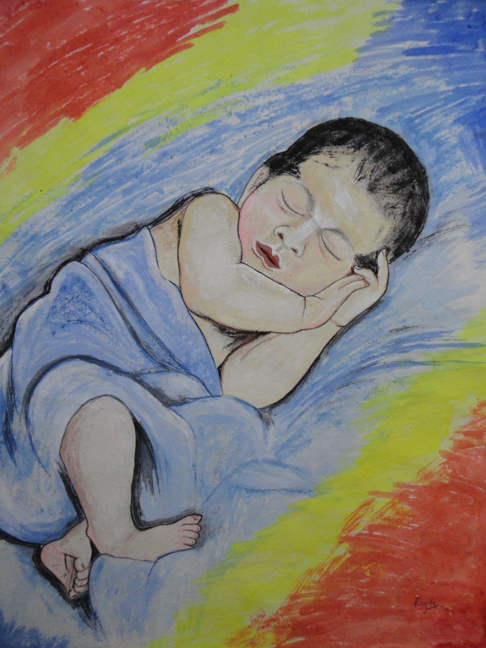 Buy baby handmade painting by ranjita panda codeart 4741 28333 paintings for sale online in india