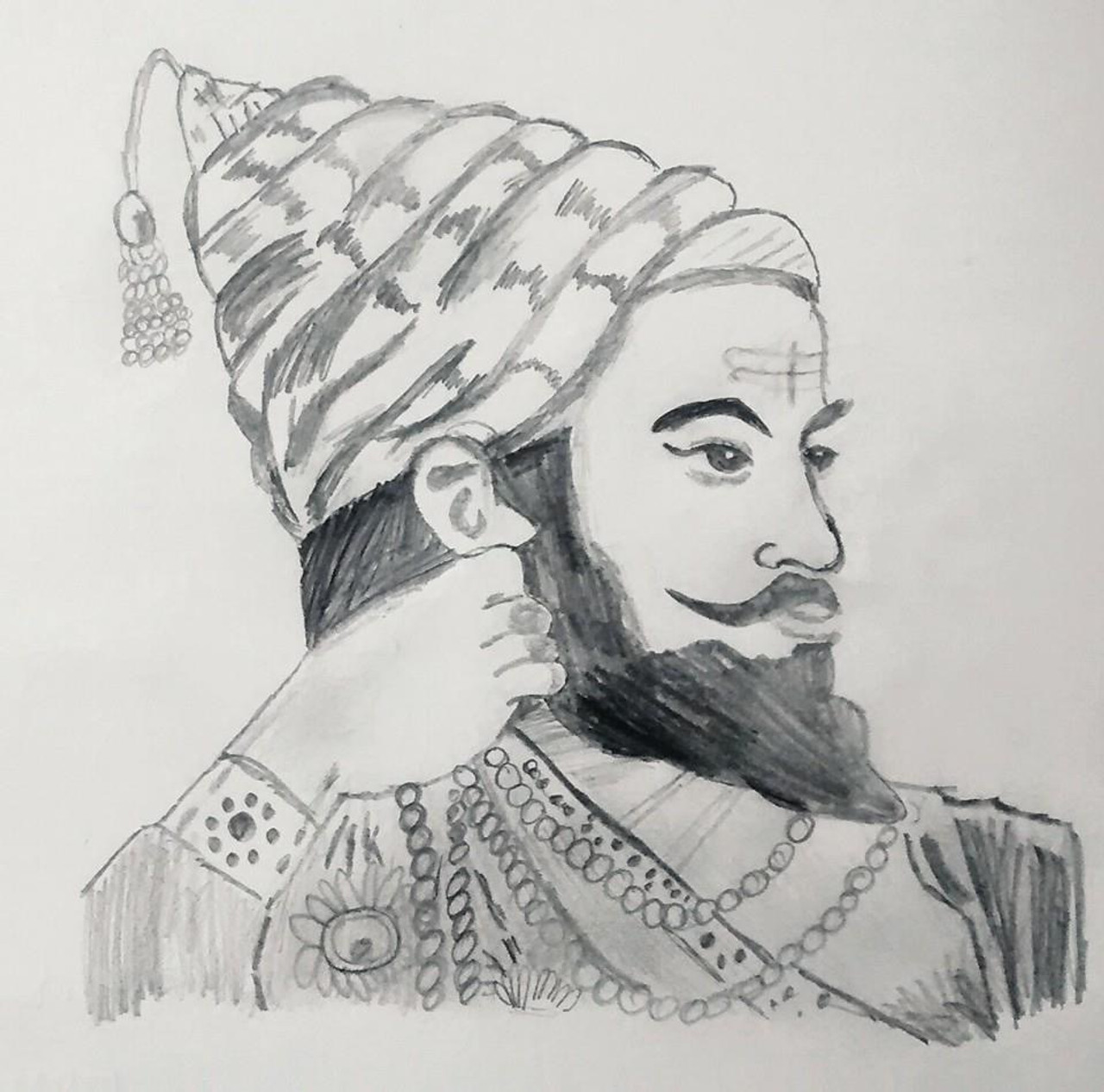 Buy chhatrapati shivaji maharaj handmade painting by aditya bafna codeart 4820 28817 paintings for sale online in india