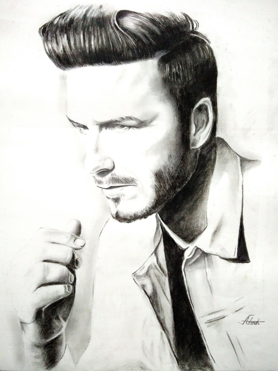 Buy portrait sketch of david beckham handmade painting by sunny artist codeart 4870 30871 paintings for sale online in india