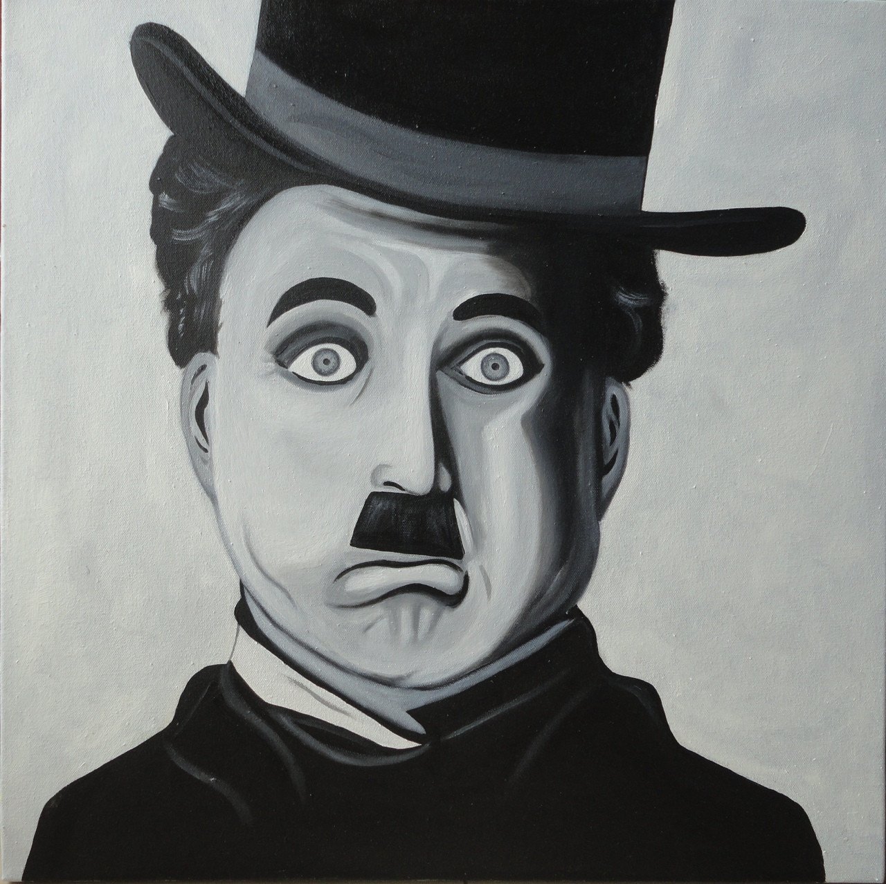4b35e0d38a012 Buy Charlie Chaplin Handmade Painting by AMITA D. Code ART 1784 31140 -  Paintings for Sale online in India.