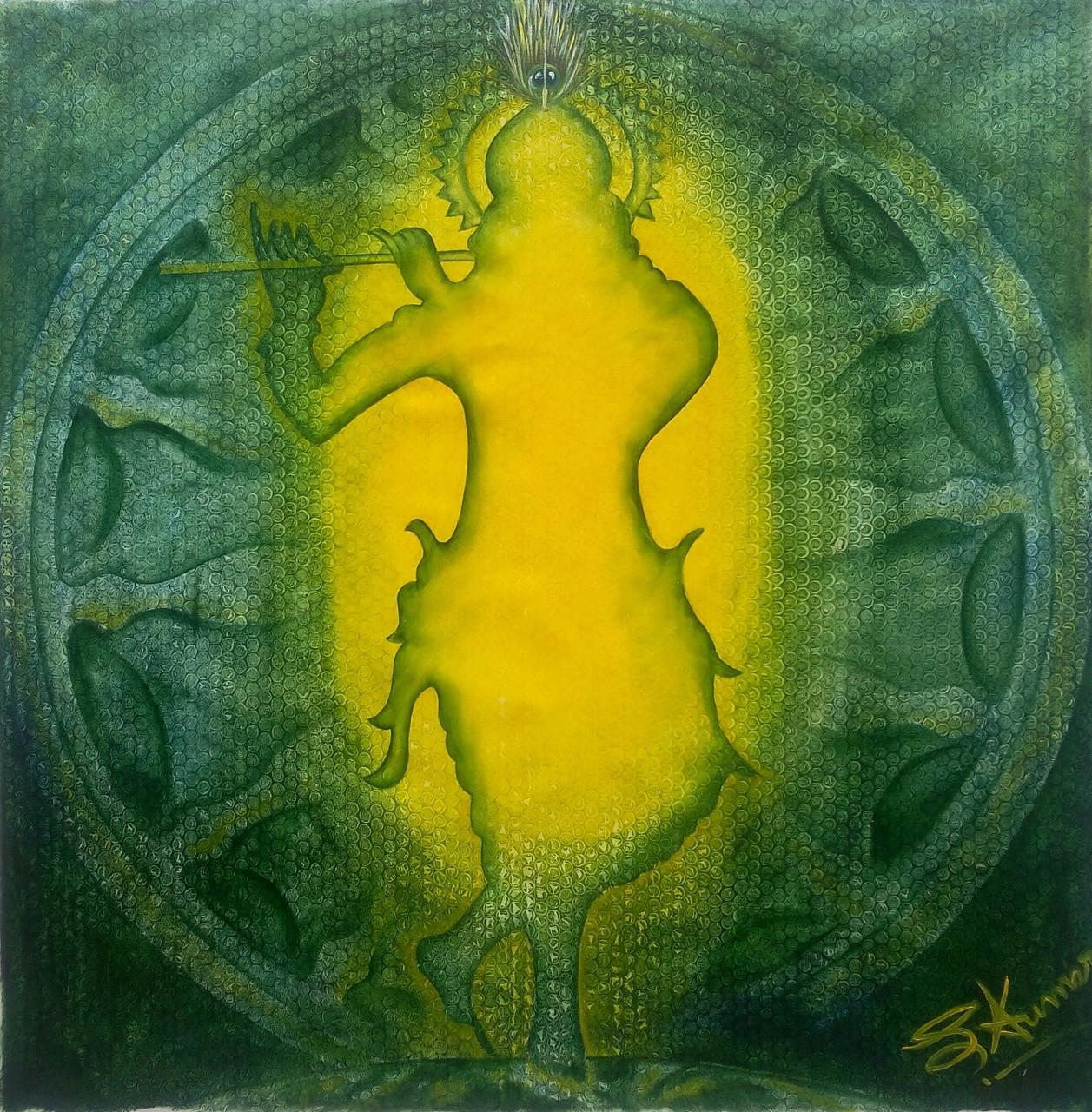 In Sale Buy Paintings By Painting For Kumar - Light Krishna Divine 28730 Online 4698 Sunil Handmade India Code Shri art