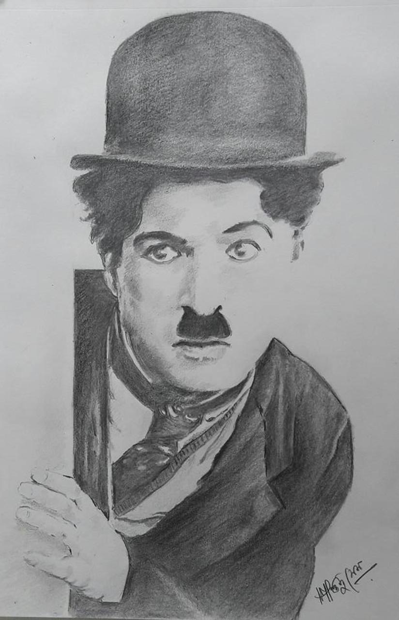 da445dc0fb051 Buy Charlie Chaplin Handmade Painting by SANTANU SEN. Code ART 5663 32593 -  Paintings for Sale online in India.