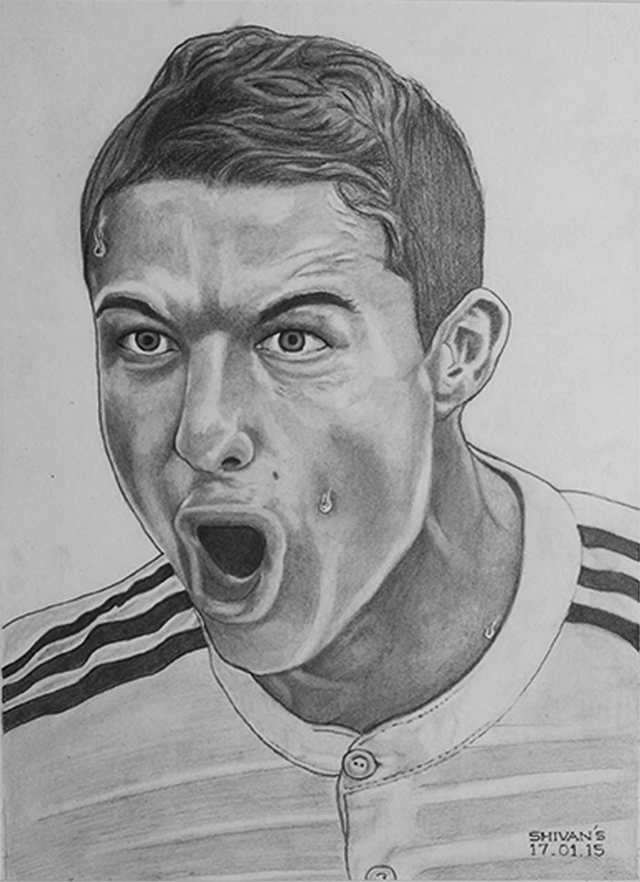 Buy world famous footballer cristiano ronaldo handmade painting