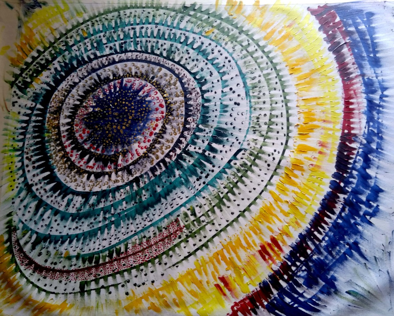 Abstract Colorful Galaxy Mandala Art 5700 32813 Handpainted Art Painting 36in X 30in