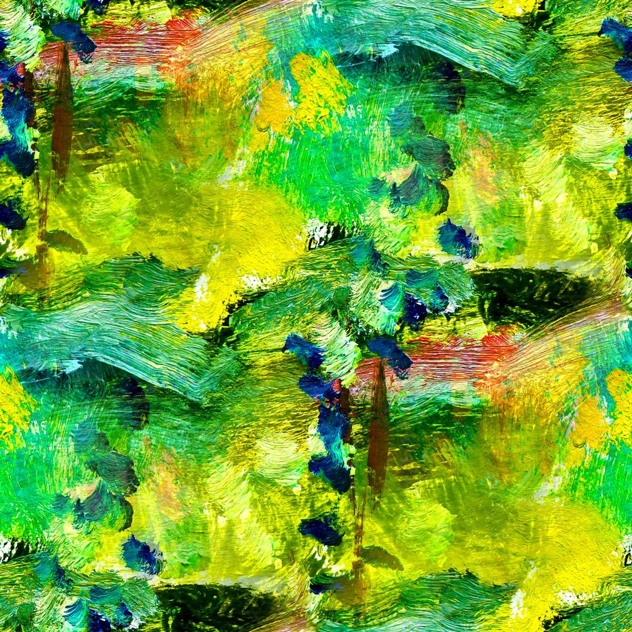 Shop Shades Of Green Abstract Prt 933 Canvas Art Print 20in X 20in Canvas Art Print Online