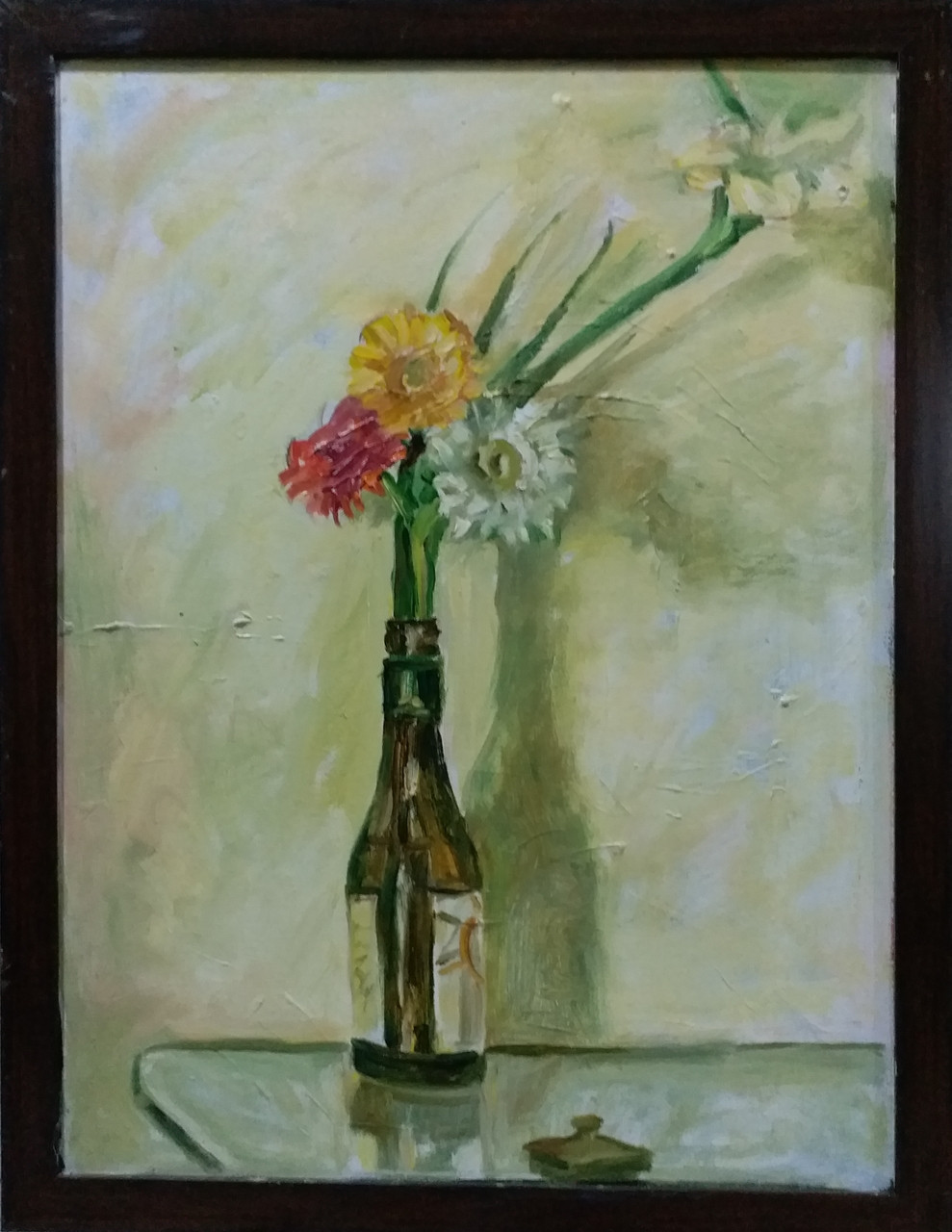 Buy Flower In A Bottle Handmade Painting By Kalpana Bagul Code Art 5814 33747 Paintings For Sale Online In India
