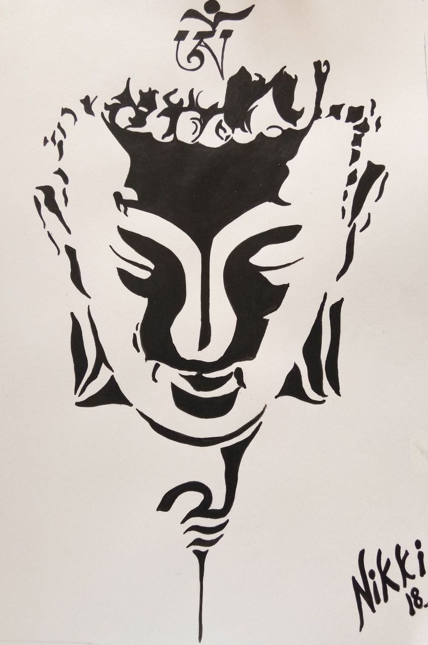 Buy buddha handmade painting by nikita atreya codeart 4658 28474 paintings for sale online in india