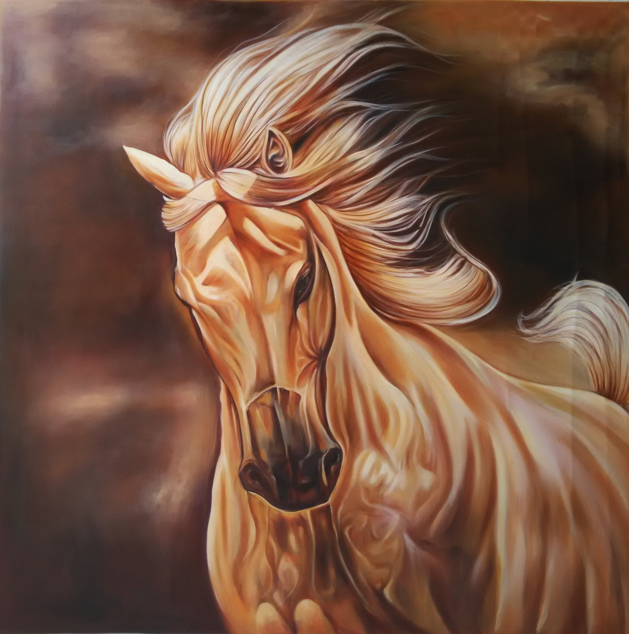 Buy Vastu Energy Horse Painting Medium Handmade Painting By Sourabh Tiwari Seller Code Art 6662 38413 Paintings For Sale Online In India