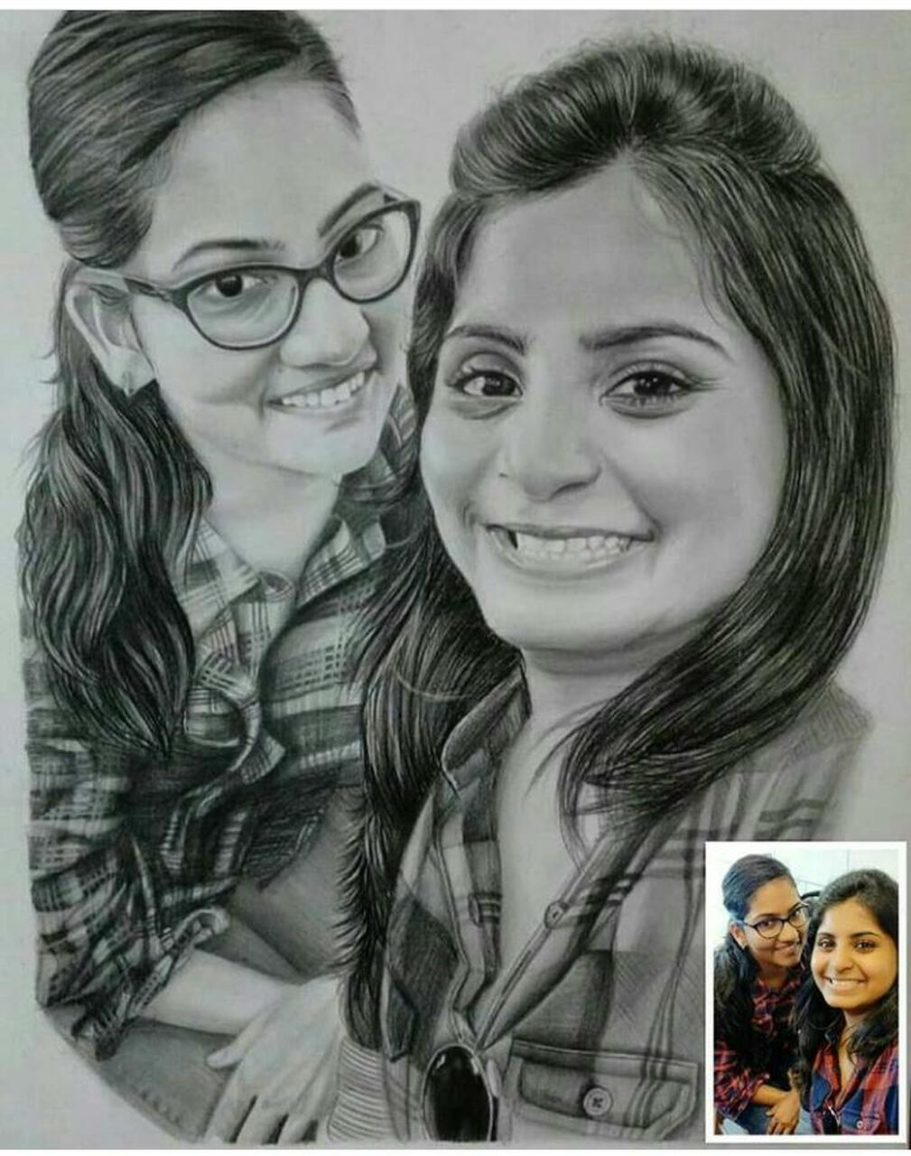 Order Handmade Pencil Sketch Portrait Online From India