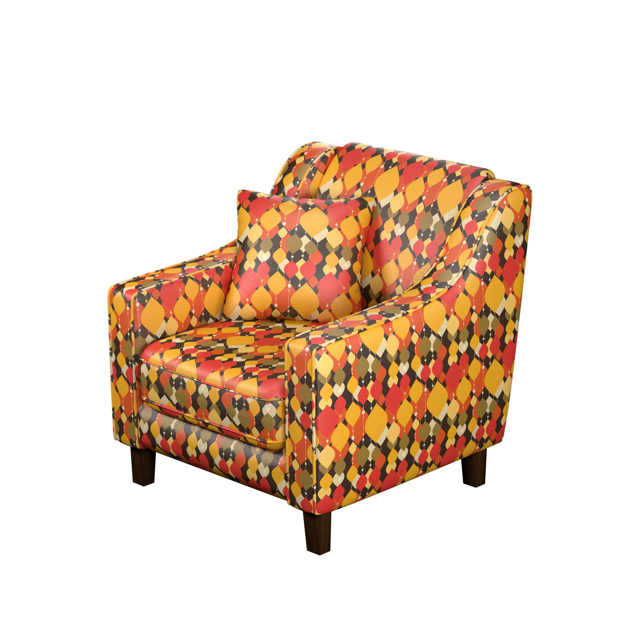 Colors Of Hope Artistic 1 Seater Premium Sofa Chair Leatherette Fabric Pine Wood Structure Fizdi Exclusive