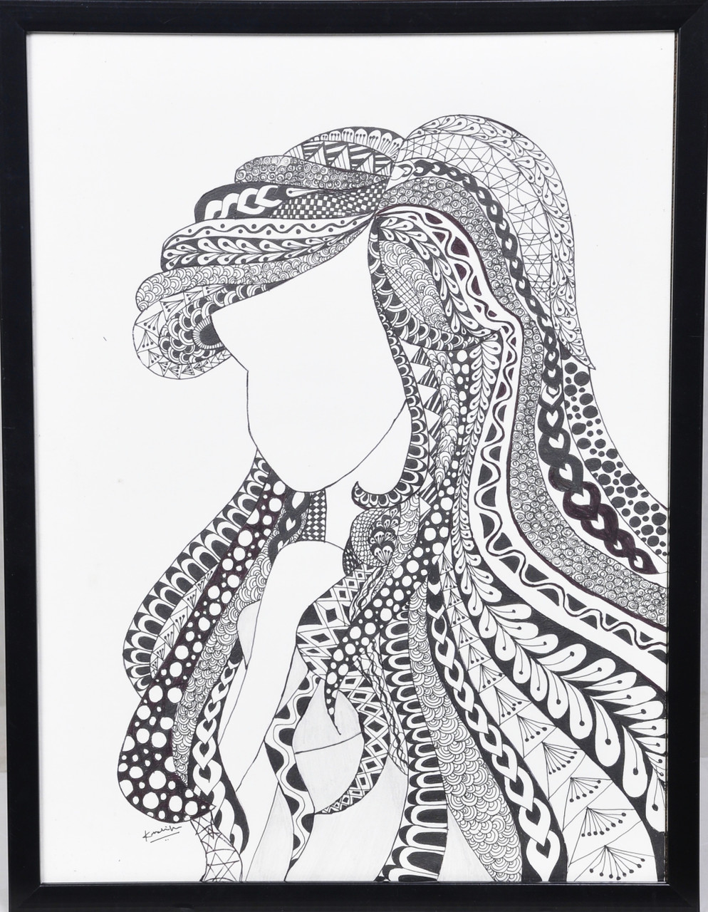 Buy Zentangle Angel Handmade Artwork Handmade Painting By Krushika Mehta Code Art 6833 39637 Paintings For Sale Online In India
