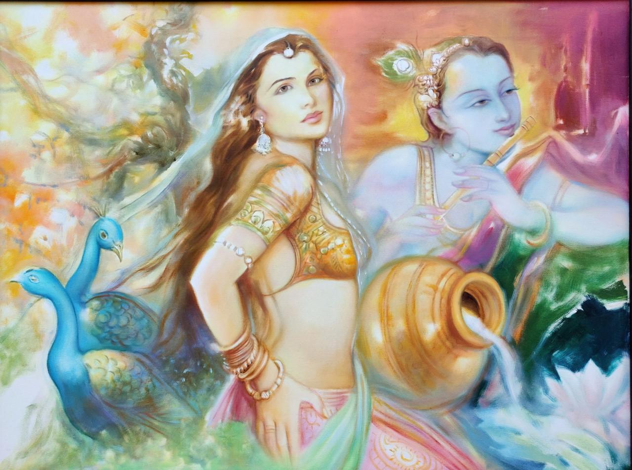 Buy Radha Krishna Love Handmade Painting By Prithvi Soni Code Art 7206 44269 Paintings For Sale Online In India
