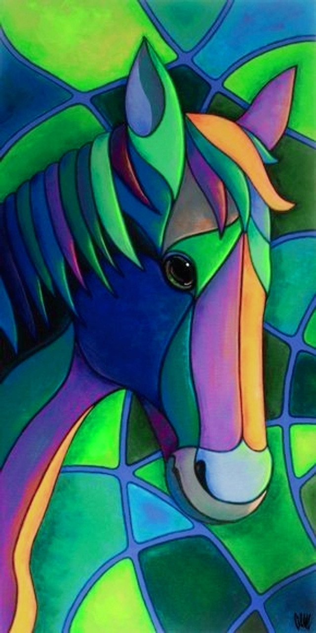 Buy Rainbow Horse Handmade Painting By Kritika Verma Code Art 7232 44715 Paintings For Sale Online In India