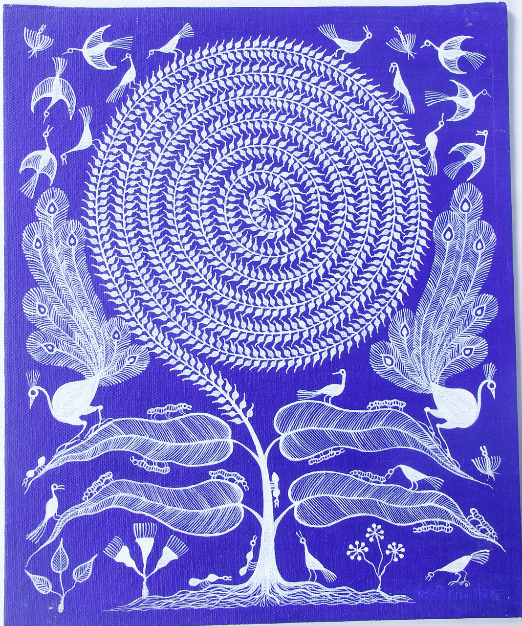 Buy Tribal Warli Painting Indian Traditional Painting Tribal Sunflower Handmade Painting By Anavita Artistry Studios Private Limited Code Art 7213 45184 Paintings For Sale Online In India