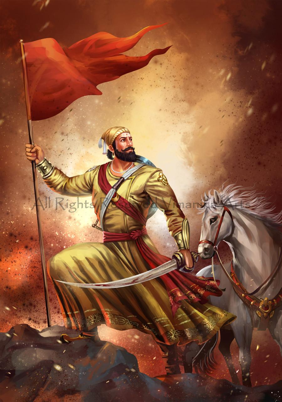 Shivaji Maharaj PRT 20 20   Canvas Art Print   20in X 20in