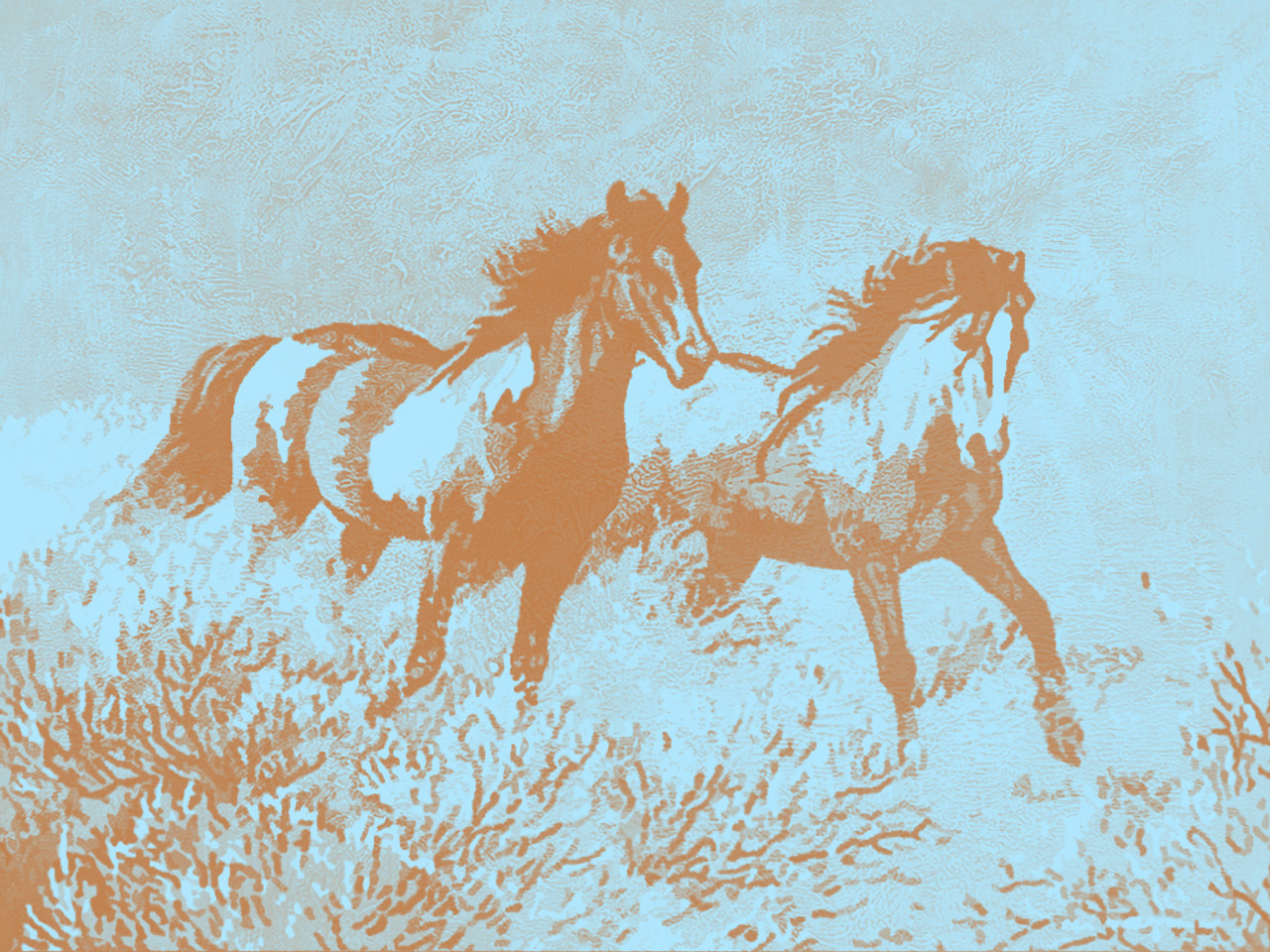 Majestic Horses 40in X 30in 28animal18 4030 Community Artists Group Canvas Oil Colors Beautiful Museum Quality 100