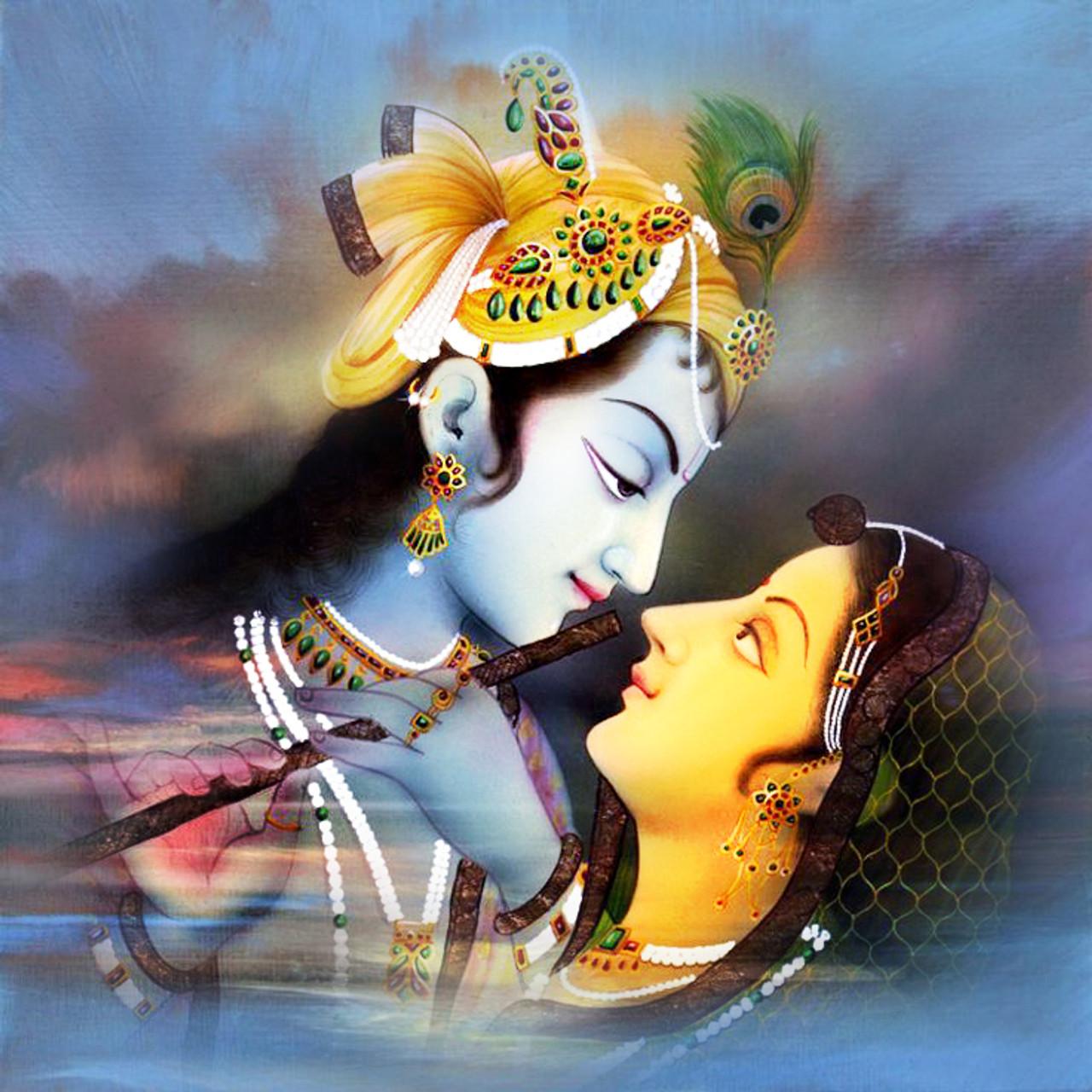 Divine Love - Handpainted Art Painting - 32in X 32in
