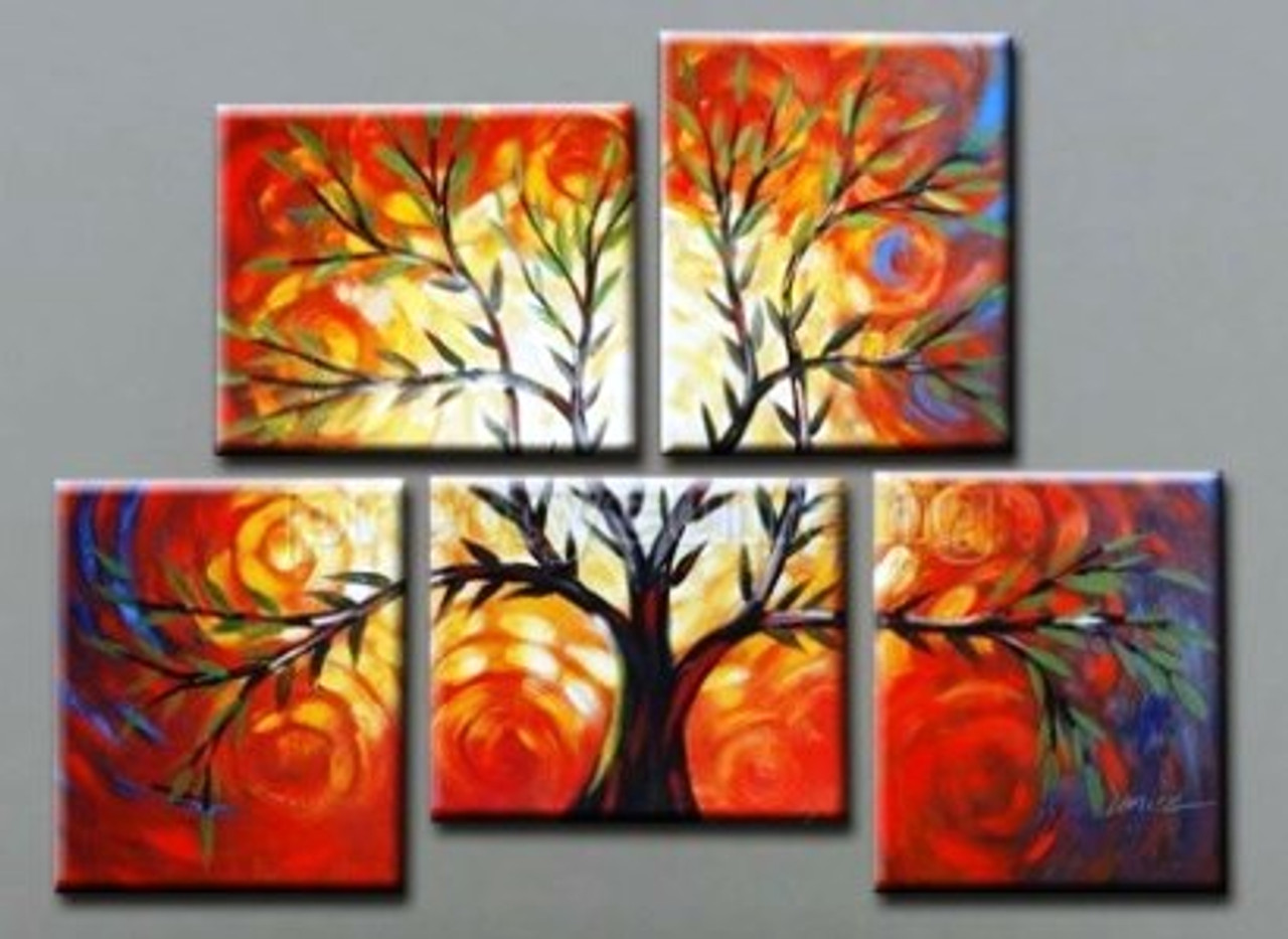 Tree Of Life 7 Handpainted Art Painting 40in X 32in Details Inside