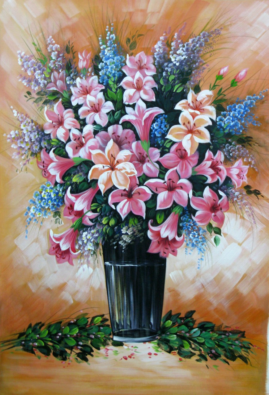 Floral Liberation - 24in X 36inRAJEAR20_2436Acrylic ColorsPotteryVaseBeautiful Flower in Vase - Buy Paintings ... & Floral Liberation - 24in X 36inRAJEAR20_2436Acrylic ColorsPottery ...