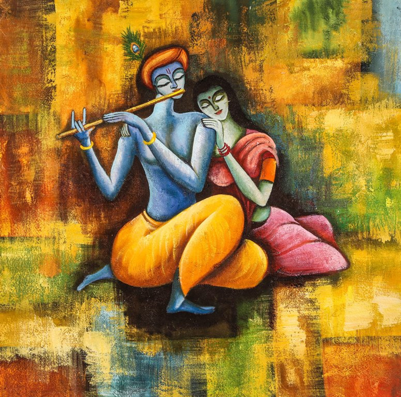 Buy Radha Krishna Love Forever By Community Artists Group Rs 5990 Code Achven31 2626 Shop Art Paintings Online In India
