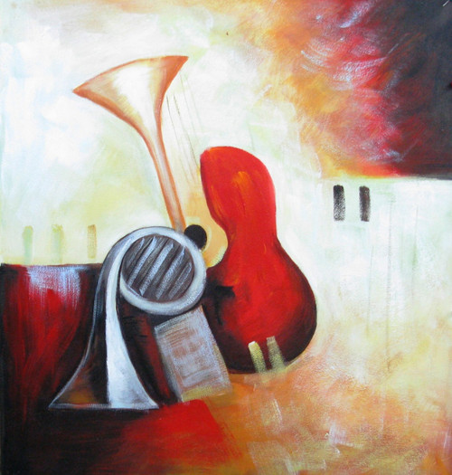 Beauty of Music - 20in X 20in,FIZCLR27_2020,Music,Buy Painting Online in india