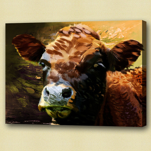 cow, brown cow,  cow in farm, farm, cow face, face of cow