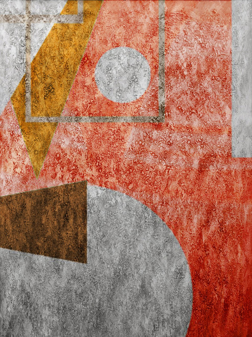AbsGeometric - 30in X 40in,25ABT428_3040,Red, Pink, Orange,75X100,Abstract Art Canvas Painting