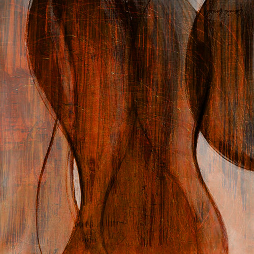 WoodFigure - 32in X 32in,25ABT322_3232,Yellow, Brown,80X80,Abstract Art Canvas Painting