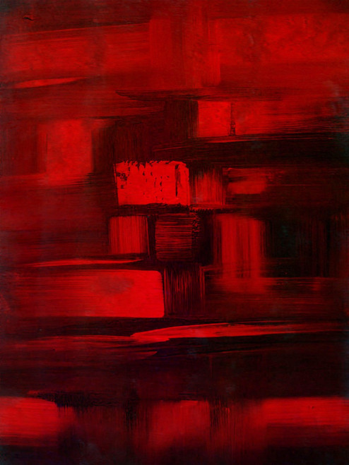 Red&Black - 16in X 20in,25ABT684_1620,Red, Pink, Orange,40X50,Abstract Art Canvas Painting