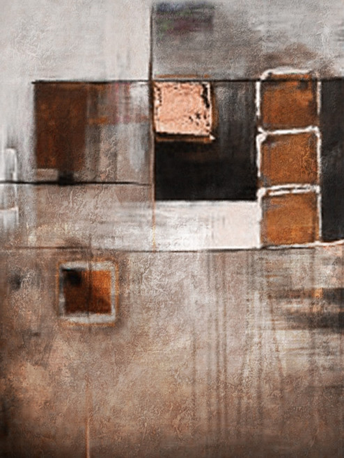 Squaremagic - 30in X 40in,28ABT104_3040,Yellow, Brown,75X100,Abstract Art Canvas Painting