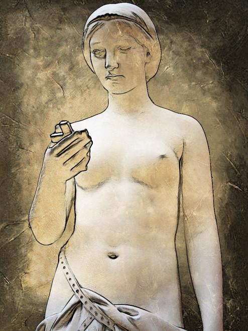 figurative painting,nnude painting,white, grey shade painting, feminine figure, christianity painting,