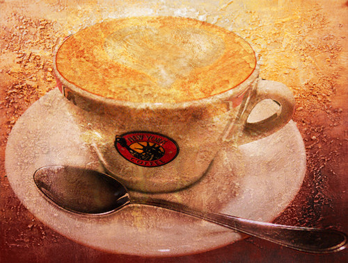 coffepainting, new age painting, texture painting, brown painting, beverages & drinks painting
