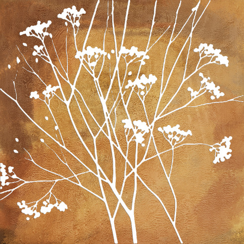 Whitetree - 32in X 32in,28ABT185_3232,Yellow, Brown,80X80,Abstract Art Canvas Painting