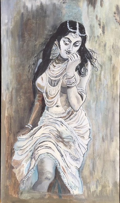 Beautiful,Mugdha,ART_1298_11121,Artist : Baba V,Oil