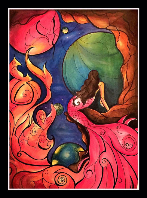 DREAM,DREAMING MERMAID,ART_1299_11130,Artist : ASWATHY SUGATHAN,Acrylic