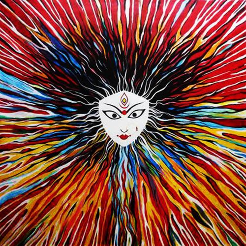 durga, goddess,DURGA - The goddess of power,ART_244_11071,Artist : Dhirendra Kumar,Acrylic