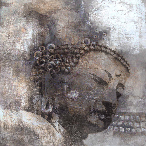 28Buddha06 - 32in X 32in,Oil Colors,God,Buddism,Canvas,28Buddha06_3232,Rs.3590,Unsorted;By Orientation and Size/Square/Medium (25in to 32in);Full Collection,Community Artists Group,Museum Quality - 100% Handpainted