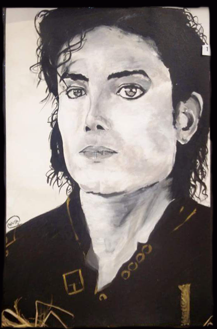 Michael Jackson, Black/White, Music, Dance, Rich, elegant, Portrait, Gold,Micheal Jackson- King of Pop,ART_306_8048,Artist : AYUSH AGRAWAL,Acrylic