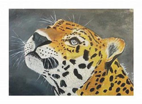 Leopard, Tiger, Lion,The Hope,ART_168_11307,Artist : Subhash Gijare,Acrylic