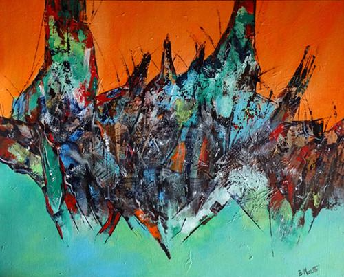 Abstract painting,Abstract - 6,ART_1342_11344,Artist : Maruthi Banada,Acrylic