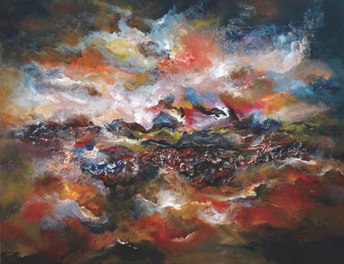 Abstract Painting,Abstract - 4,ART_1342_11342,Artist : Maruthi Banada,Acrylic