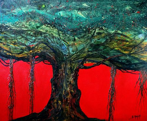 abstract Painting,Abstract-3,ART_1342_11341,Artist : Maruthi Banada,Acrylic
