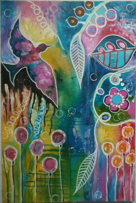 ,Free Bird,ART_1243_11189,Artist : Ujwala Chavan,Acrylic