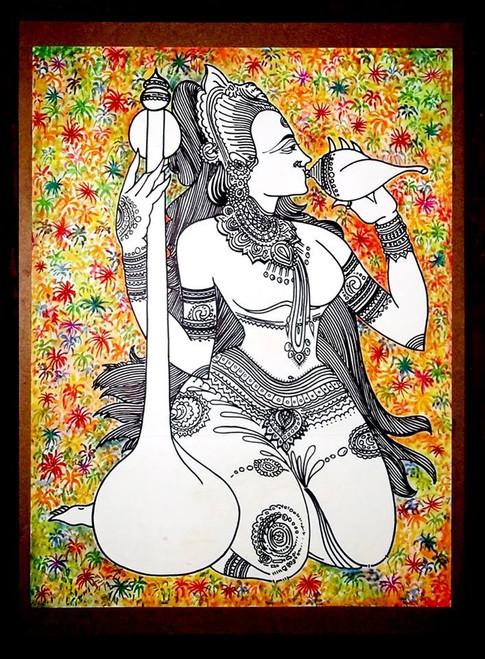 PEACE,MEERA,ART_1299_11123,Artist : ASWATHY SUGATHAN,Acrylic