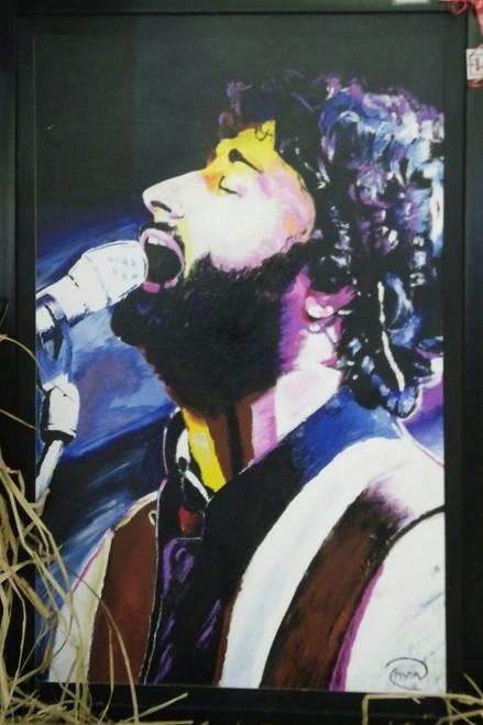Arijit Singh, Music, Energy, Spirit, Blue, Singing, Passion,Arijit Singh- The Soulful voice,ART_306_8049,Artist : AYUSH AGRAWAL,Acrylic