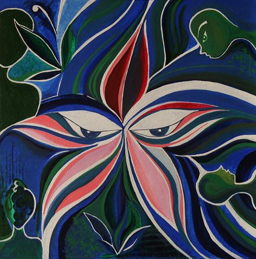 witnessing, eyes, buddha, peace, gaze,Witnessing,ART_1348_11389,Artist : Megha Verma,Acrylic